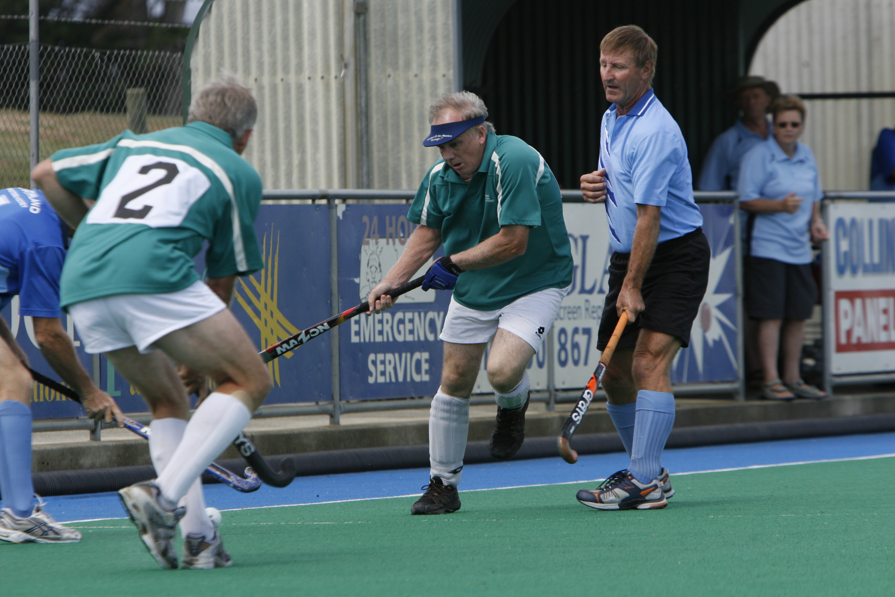 Bruce playing masters hockey.