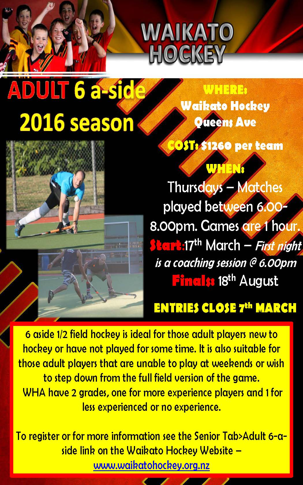 Adult 6-aside 2016 Season