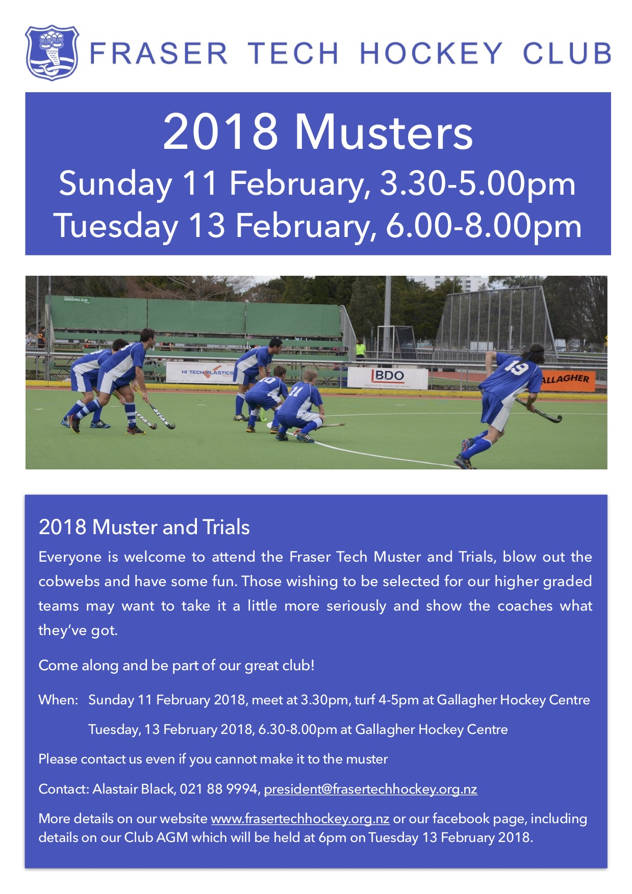 2018 Muster and Trials