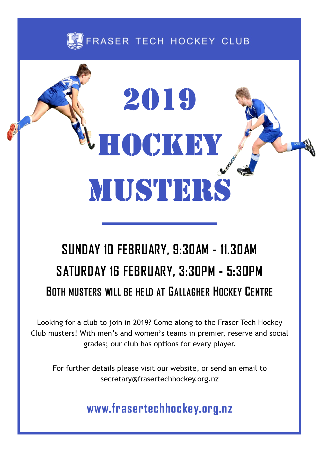 2019 Muster and Trials